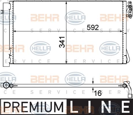 Behr Hella Service 8fc 351 302-624 Condensateur Air Conditionné