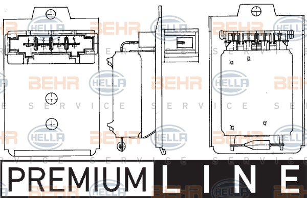 Resistance moteur de ventilateur de chauffage HELLA 9ML 351 303-261 (X1)