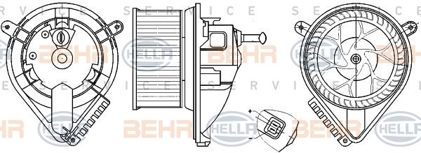 Chauffage et climatisation HELLA 8EW 351 304-021 (X1)