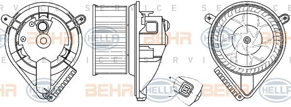 Chauffage et climatisation HELLA 8EW 351 304-041 (X1)