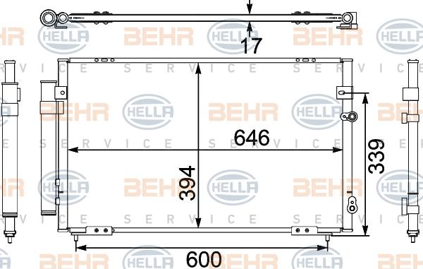 Condenseur / Radiateur de climatisation HELLA 8FC 351 304-101 (X1)