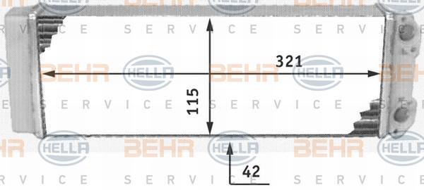 Radiateur de chauffage HELLA 8FH 351 311-491 (X1)