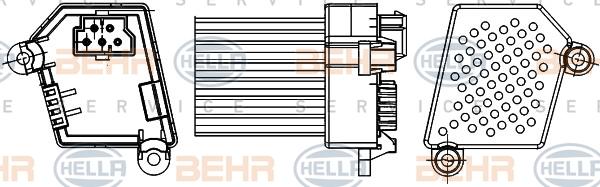 Servo moteur de ventilateur de chauffage HELLA 5HL 351 311-521 (X1)