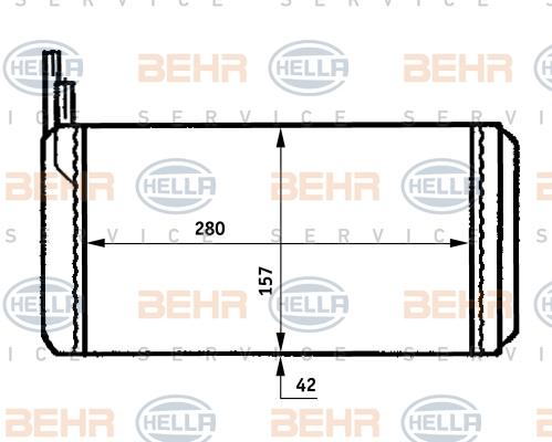 Radiateur de chauffage HELLA 8FH 351 313-361 (X1)