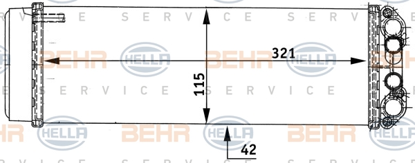 Radiateur de chauffage HELLA 8FH 351 313-491 (X1)