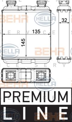 Radiateur de chauffage HELLA 8FH 351 315-481 (X1)