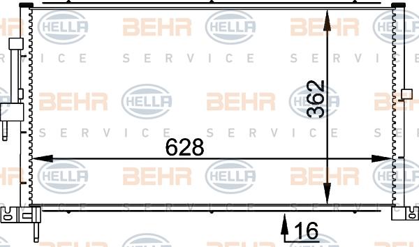 Condenseur / Radiateur de climatisation HELLA 8FC 351 318-311 (X1)