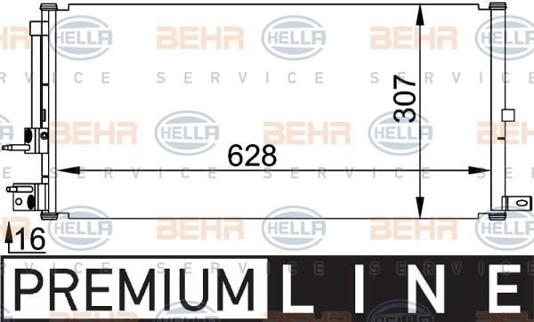 Condenseur / Radiateur de climatisation HELLA 8FC 351 318-401 (X1)