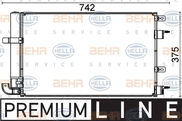 Condenseur / Radiateur de climatisation HELLA 8FC 351 318-601 (X1)