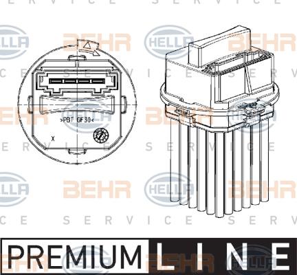 Servo moteur de ventilateur de chauffage HELLA 5DS 351 320-011 (X1)