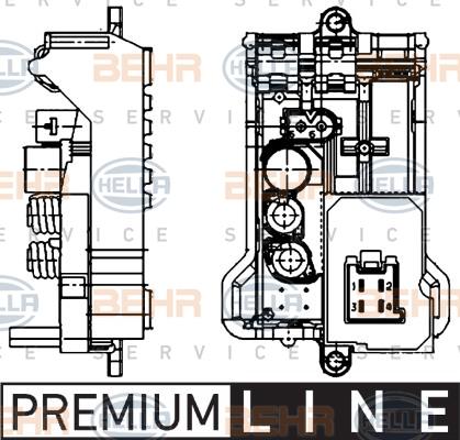 Servo moteur de ventilateur de chauffage HELLA 5HL 351 321-141 (X1)