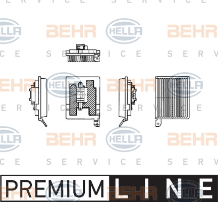 Servo moteur de ventilateur de chauffage HELLA 5HL 351 321-181 (X1)