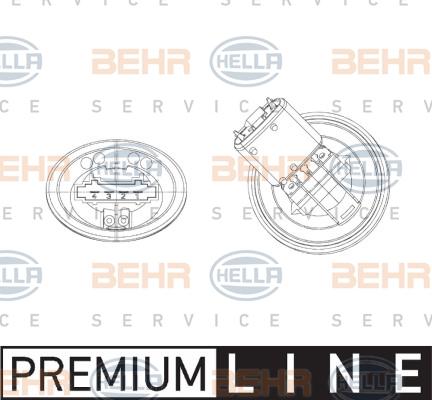 Servo moteur de ventilateur de chauffage HELLA 5HL 351 321-301 (X1)