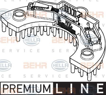 Servo moteur de ventilateur de chauffage HELLA 5HL 351 321-561 (X1)