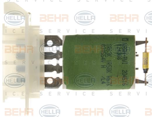 Servo moteur de ventilateur de chauffage HELLA 5HL 351 321-741 (X1)