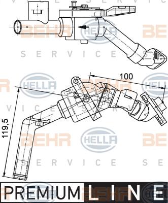 Electrovanne de climatisation HELLA 9XL 351 328-161 (X1)