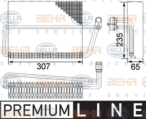 Evaporateur HELLA 8FV 351 330-491 (X1)