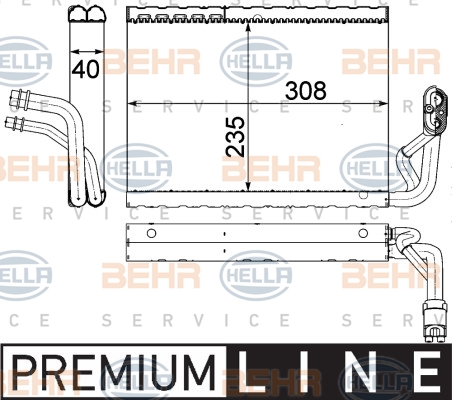 Evaporateur HELLA 8FV 351 330-691 (X1)