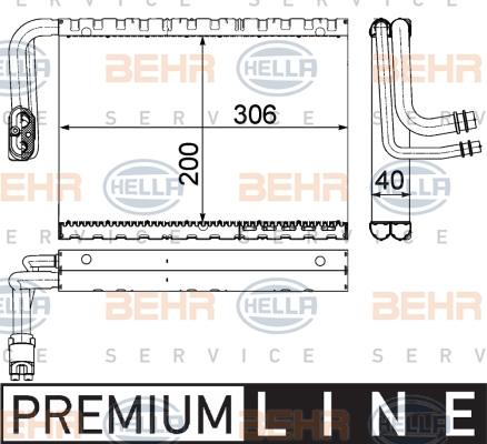 Evaporateur HELLA 8FV 351 330-701 (X1)