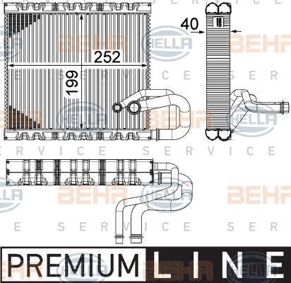 Evaporateur HELLA 8FV 351 331-131 (X1)