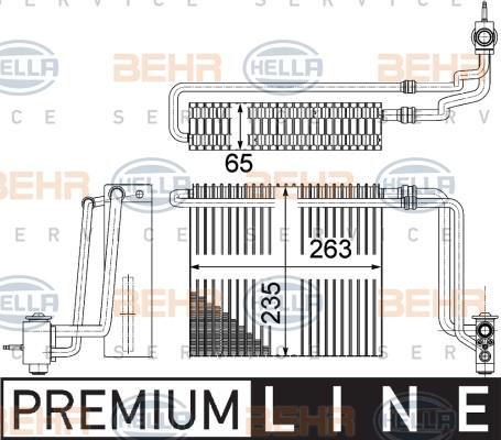 Evaporateur HELLA 8FV 351 331-171 (X1)