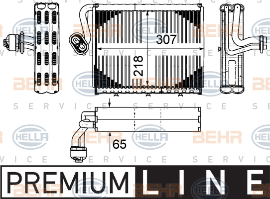 Evaporateur HELLA 8FV 351 331-181 (X1)