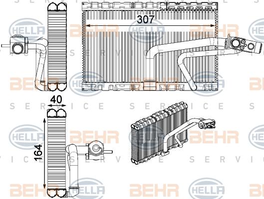 Evaporateur HELLA 8FV 351 331-271 (X1)