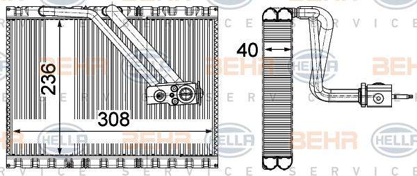 Evaporateur HELLA 8FV 351 331-531 (X1)