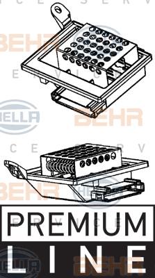 Resistance moteur de ventilateur de chauffage HELLA 9ML 351 332-201 (X1)