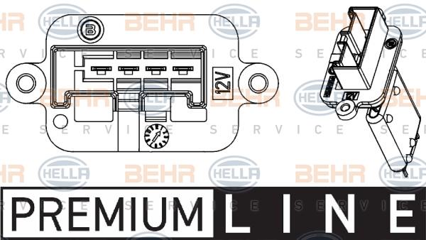 Resistance moteur de ventilateur de chauffage HELLA 9ML 351 332-221 (X1)