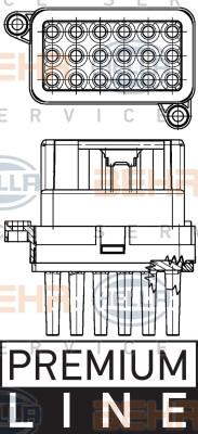 Servo moteur de ventilateur de chauffage HELLA 5HL 351 332-341 (X1)