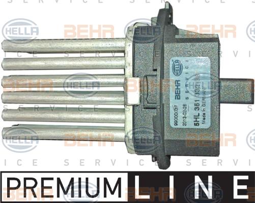 Servo moteur de ventilateur de chauffage HELLA 5HL 351 332-381 (X1)