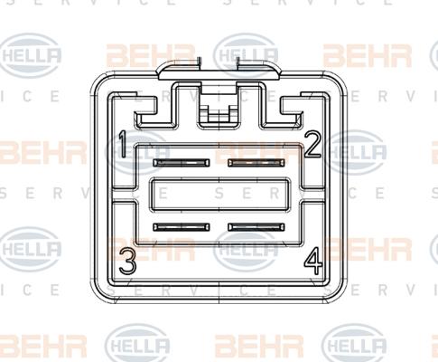 Resistance moteur de ventilateur de chauffage HELLA 9ML 351 332-451 (X1)