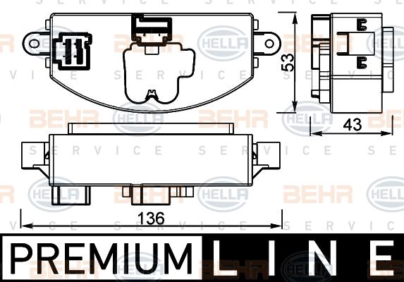 Servo moteur de ventilateur de chauffage HELLA 5HL 351 332-471 (X1)