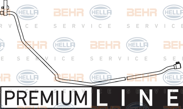 Flexible de climatisation HELLA 9GS 351 337-081 (X1)
