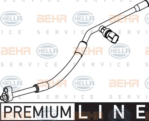 Flexible de climatisation HELLA 9GS 351 337-091 (X1)