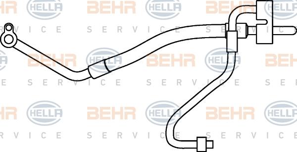 Tuyau de climatisation HELLA 9GS 351 337-161 (X1)