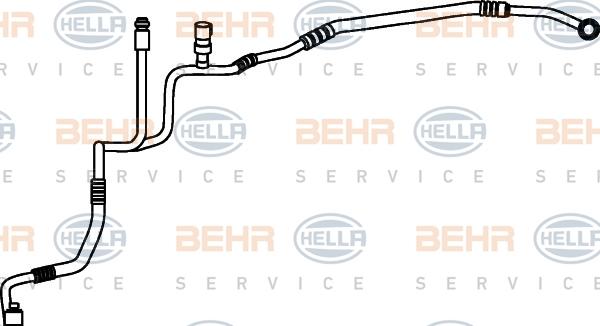 Flexible de climatisation HELLA 9GS 351 337-191 (X1)