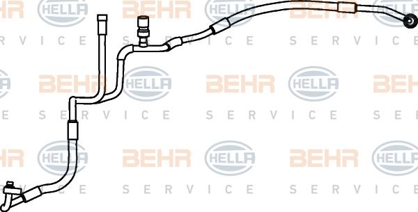 Flexible de climatisation HELLA 9GS 351 337-211 (X1)