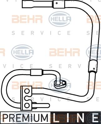 Tuyau de climatisation HELLA 9GS 351 337-281 (X1)