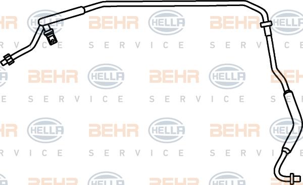 Flexible de climatisation HELLA 9GS 351 337-291 (X1)
