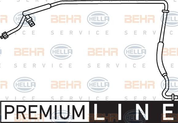 Flexible de climatisation HELLA 9GS 351 337-301 (X1)