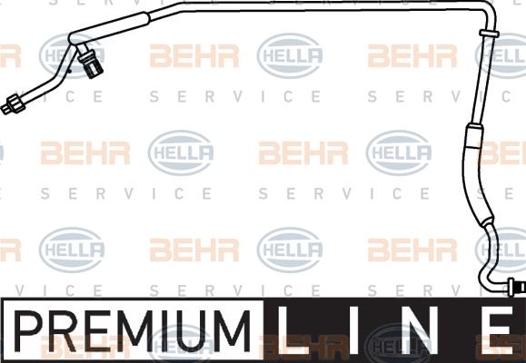Flexible de climatisation HELLA 9GS 351 337-311 (X1)
