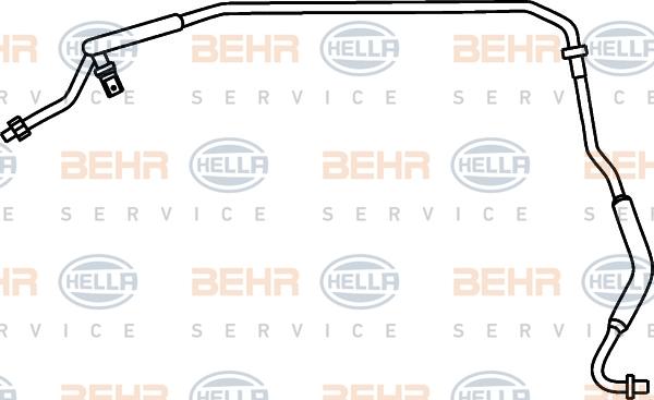 Flexible de climatisation HELLA 9GS 351 337-321 (X1)