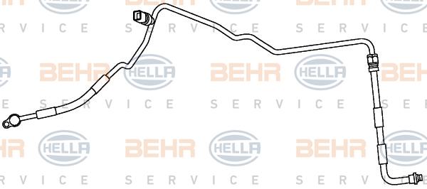 Flexible de climatisation HELLA 9GS 351 337-361 (X1)