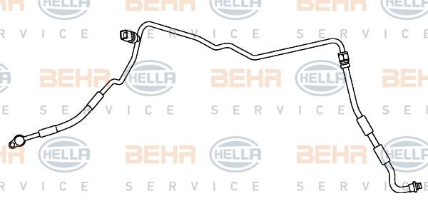 Flexible de climatisation HELLA 9GS 351 337-401 (X1)