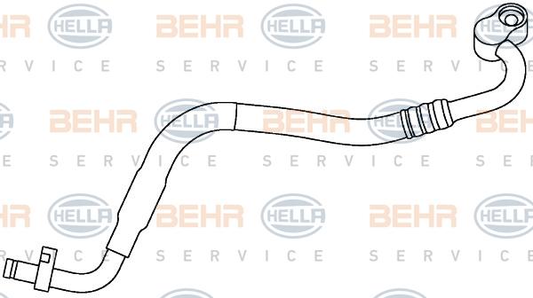 Flexible de climatisation HELLA 9GS 351 337-531 (X1)