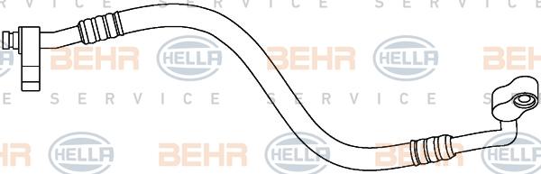 Flexible de climatisation HELLA 9GS 351 337-541 (X1)