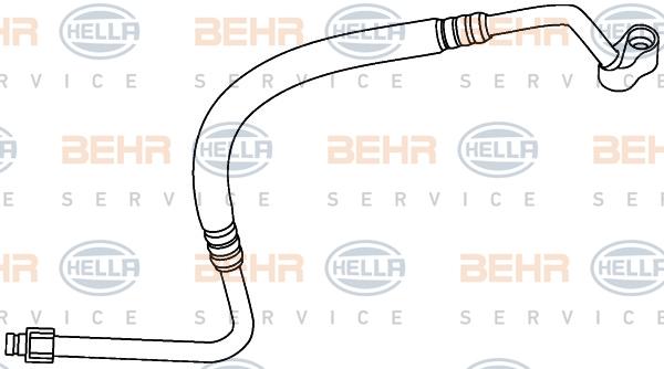Flexible de climatisation HELLA 9GS 351 337-551 (X1)