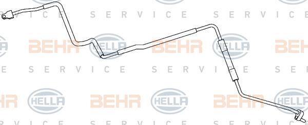 Flexible de climatisation HELLA 9GS 351 337-601 (X1)